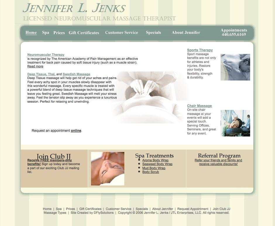 Portfolio – Massage Therapist Website ‹ ZazzyPants